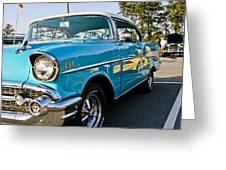 1957 Chevy Bel Air Blue Right Side Greeting Card