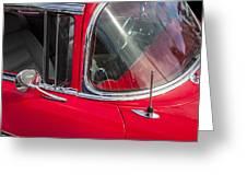 1957 Chevy Bel Air Chrome Greeting Card