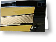1957 Chevy Bel Air Yellow Rear Quarter Panel Greeting Card