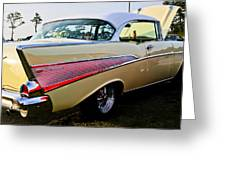 1957 Chevy Bel Air Yellow Side View  Greeting Card