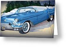 1957 Chevy Convertible Greeting Card
