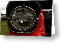 Old Car Headlight Greeting Card