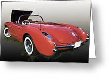 1957 Corvette Fuel Injected Greeting Card
