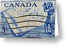 1957 David Thompson Canada Stamp Greeting Card