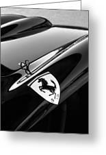 1957 Ferrari Tr 250 - 0714 Emblem -0379bw Greeting Card