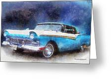1957 Ford Classic Car Photo Art 02 Greeting Card
