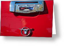 1957 Ford Custom 300 Series Ranchero Emblem Greeting Card