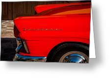 1957 Ford Fairlane Emblem -359c Greeting Card