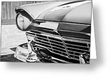 1957 Ford Fairlane Grille -107bw Greeting Card