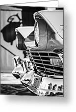 1957 Ford Fairlane Grille -205bw Greeting Card