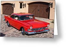 1957 Ford Fairlane Greeting Card