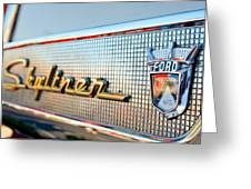 1957 Ford Skyliner Retractable Hardtop Emblem Greeting Card