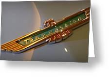1957 Ford Thunderbird Emblem Greeting Card