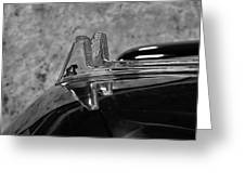 1957 Lincoln Capri Hood Ornament Greeting Card