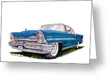 1957 Lincoln Premiere Convert Greeting Card