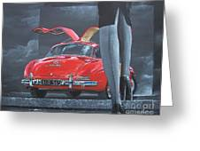 1957 Mercedes Benz 300 Sl Gullwing Coupe Greeting Card