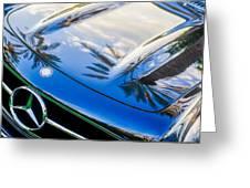 1957 Mercedes-benz 300sl Grille Emblem -0167c Greeting Card