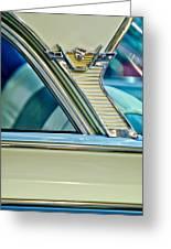 1957 Mercury Monterey Sedan Emblem Greeting Card