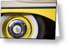 1957 Pontiac Starchief Wheel Cover Greeting Card