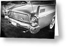 1957 Studebaker Golden Hawk Bw    Greeting Card