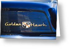 1957 Studebaker Golden Hawk Supercharged Sports Coupe Emblem Greeting Card