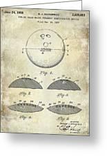 1958 Bowling Patent Drawing Greeting Card
