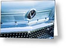 1958 Buick Roadmaster 75 Convertible Grille Emblem Greeting Card