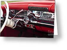 1958 Buick Special Dashboard Greeting Card
