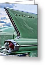 1958 Cadillac It's All In The Fin. Greeting Card
