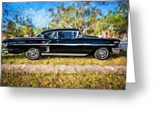1958 Chevrolet Bel Air Impala Painted     Greeting Card