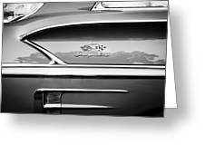 1958 Chevrolet Bel Air Impala Painted Bw  Greeting Card