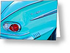 1958 Chevrolet Belair Taillight 2 Greeting Card