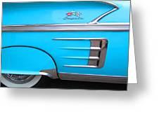 1958 Chevrolet Impala Greeting Card