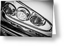 1958 Chevrolet Impala Taillight -0289bw Greeting Card