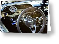 1958 Chevy Impala Dashboard Greeting Card