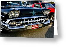 1958 Chevy Impala Front End Grill Work Greeting Card
