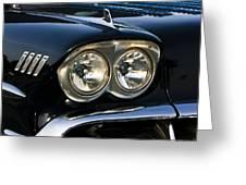 1958 Chevy Impala Headlights Greeting Card