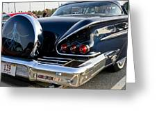 1958 Chevy Impala Rear Quater Greeting Card