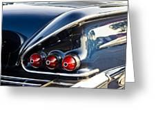 1958 Chevy Impala Tail Lights Greeting Card