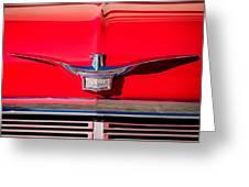 1958 Chrysler Imperial Crown Convertible Emblem Greeting Card