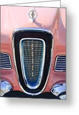 1958 Edsel Pacer Grille Emblem Greeting Card
