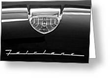1958 Ford Fairlane 500 Victoria Hood Emblem Greeting Card by Jill Reger