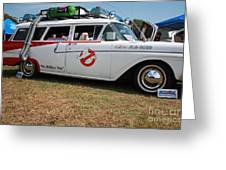 1958 Ford Suburban Ghostbusters Car Greeting Card