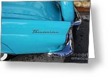 1958 Ford Thunderbird Detail Greeting Card