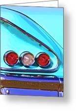 1958 Impala Palm Springs Greeting Card