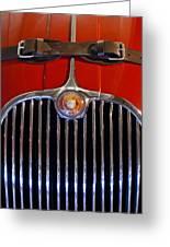 1958 Jaguar Xk150 Roadster Grille Emblem Greeting Card by Jill Reger