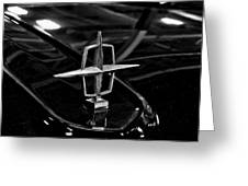 1958 Lincoln Continental Hood Ornament Greeting Card