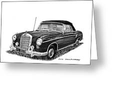1958 Mercedes Benz 220s Greeting Card