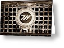 1958 Nash Metropolitan Grille Emblem Greeting Card