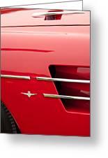 1958 Pegaso Z-103 Touring Berlinetta Side Emblem -1195c Greeting Card